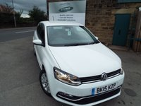USED 2015 15 VOLKSWAGEN POLO 1.0 SE 3d 60 BHP FULL VW Service History Only £20 Road Tax