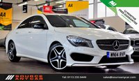 USED 2014 14 MERCEDES-BENZ CLA 1.8 CLA200 CDI AMG SPORT 4d 136 BHP + 1 OWNER / FULL SERVICE HISTORY / 15 MONTHS WARRANTY / 12 MONTHS MOT