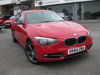 USED 2014 64 BMW 1 SERIES 1.6 116I SPORT 5d 135 BHP Cruise Bluetooth Electric folding mirrors Climate control One owner Full BMW History