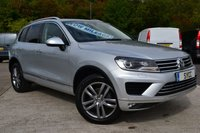 USED 2016 16 VOLKSWAGEN TOUAREG 3.0 V6 SE TDI BLUEMOTION TECHNOLOGY 5d AUTO 259 BHP 1 PRIVATE OWNER ~ SAT NAV ~ HEATED LEATHER ~ FULL VW SERVICE HISTORY