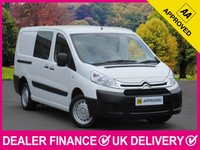 USED 2015 64 CITROEN DISPATCH 2.0 HDI 6 SEAT COMBI VAN LWB CREW CAB L2H1 6 SPEED 6 SEATS CRUISE CONTROL TWIN SIDE DOORS