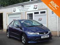 USED 2011 61 HONDA CIVIC 1.3 I-VTEC TYPE S 3d 98 BHP Low Mileage -Six service stamps- Aux & air conditioning