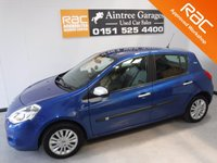 USED 2010 60 RENAULT CLIO 1.1 I-MUSIC 16V 5d 74 BHP ONE OWNER WITH FULL SERVICE HISTORY FINISHED IN GLEAMING BLUE METALLIC GREAT  CAR WITH CHEAP TAX AND INSURANCE, FRONT FOG LAMPS,RADIO DAB AUX USB, ELEC MIRRORS, ELEC  WINDOWS, ICE COLD AIR CON   for more Information Please Call Now on 0151525 4400,  07967141248. Family Run Business Since 1990 SPECIALISTS