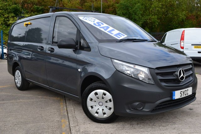 USED 2015 65 MERCEDES-BENZ VITO 1.6 111 CDI 1d 114 BHP Long Wheel Base ~ NEW SHAPE  NEW SHAPE VAN ~ 2 KEYS ~ FLINT GREY