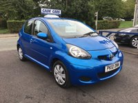 USED 2010 10 TOYOTA AYGO 1.0 BLUE VVT-I 5d 67 BHP CADE CARS LTD. Established for over 25 years.