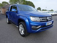 2017 VOLKSWAGEN AMAROK HIGHLINE 4 MOTION DOUBLE CAB PICK UP AUTO 3.0 DC V6 TDI 222 BHP £33995.00