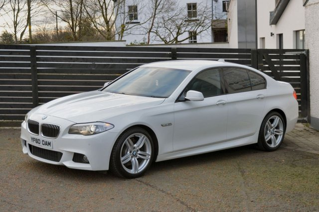 2010 60 BMW 5 SERIES 3.0 530D M SPORT 4d AUTO ALPINE WHITE FBMWSH