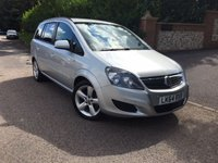 2014 VAUXHALL ZAFIRA 1.8 EXCLUSIV 5d 120 BHP PLEASE CALL TO VIEW £6750.00