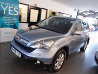 USED 2009 59 HONDA CR-V 2.0 I-VTEC ES 5d AUTO 148 BHP Two owners, full Honda service history, Supplied with a 12 month Mot. Finished in Metallic Glacier Blue with Black cloth seats.