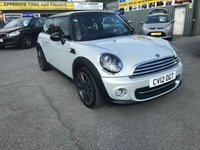 USED 2012 12 MINI HATCH COOPER 1.6 COOPER SOHO 3d 120 BHP IN SILVER WITH ONLY 33000 MILES. APPROVED CARS ARE PLEASED TO OFFER THIS MINI HATCH COOPER 1.6 COOPER SOHO 3 DOOR 120 BHP IN SILVER WITH ONLY 33000 MILES IN IMMACULATE CONDITION INSIDE AND OUT WITH A GREAT SPEC INCLUDING DAB RADIO,HALF LEATHER INTERIOR,UPGRADED ALLOYS,BLUETOOTH,BI-XENON HEADLIGHTS AND MUCH MORE WITH A DOCUMENTED SERVICE HISTORY A TRULY GREAT LIMITED EDITION MINI SOHO.