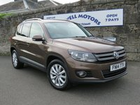USED 2014 14 VOLKSWAGEN TIGUAN 2.0 MATCH TDI BLUEMOTION TECHNOLOGY 5d 139 BHP SATELLITE NAVIGATION+HEATED FRONT SEATS+DAB RADIO/CD+PARK ASSIST