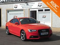 USED 2012 12 AUDI A5 2.0 TDI QUATTRO S LINE BLACK EDITION 2d 175 BHP Full leather - Heated seats - Bang & Olufsen sound system - Bluetooth