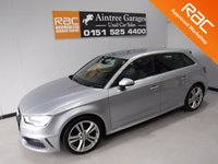 USED 2014 14 AUDI A3 1.6 TDI S LINE 5d 109 BHP ONE OWNER FROM NEW,  FULL AUDI SERVICE HISTORY,  TWIN BAR 18INCH ALLOYS, DRL,FRONT FOG LIGHTS, CHROME ROOF RAILS,HALF LEATHER, HEATED MIRRORS, ELEC WINDOWS ALL ROUND, FLAT BOTTOM MULTI FUNCTION STEERING WHEEL, I POD CONNECTION, BLUETOOTH, SAT NAV, DAB RADIO, AUDI MULTIMEDIA SYSTEM, BLACK HEADLINING, VOICE COMMAND, S LINE DOOR STEPS, Information Please Call Now on 0151523 4000,  07967141248. Family Run Business Since 1990