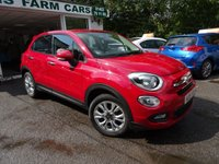 USED 2015 15 FIAT 500X 1.4 MULTIAIR POP STAR 5d 140 BHP One Lady Owner from new, Fiat Service History + Serviced by ourselves, MOT until August 2019, 6 Speed Gearbox