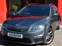 USED 2015 15 SKODA OCTAVIA ESTATE 2.0 TDI VRS 5d 185 S/S UPGRADE AMUNDSEN SAT NAV, UPGRADE DIVERSITY ANTENNA FOR AM & FM RADIO, LANE ASSIST, BLACK ROOF RAILS, BLACK HALF LEATHER INTERIOR, DAB RADIO, CRUISE CONTROL, BLUETOOTH PHONE & MUSIC STREAMING, LIGHT & RAIN SENSORS WITH AUTO DIMMING REAR VIEW MIRROR, REAR PARKING SENSORS WITH DISPLAY,  AUX & USB INPUTS, 18 INCH 10 SPOKE ALLOYS, XENON HEADLIGHTS WITH LED DAYTIME RUNNING LIGHTS, VRS DRIVING MODE, SPORT SEATS,ALUMINIUM PEDALS, 1 OWNER FROM NEW, FULL SERVICE HISTORY, £30 ROAD TAX