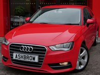 USED 2014 14 AUDI A3 1.6 TDI SPORT 3d 110 S/S £0 TAX, 1 OWNER FROM NEW, DAB, BLUETOOTH PHONE & MUSIC STREAMING, AUDI MUSIC INTERFACE FOR IPOD/USB DEVICES (AMI), FRONT FOG LIGHTS, HEADLAMP WASHERS, 17 INCH 5 SPOKE ALLOY WHEELS, GREY CLOTH INTERIOR, SPORT SEATS, LEATHER 3 SPOKE SPORT MULTIFUNCTION STEERING WHEEL, AUDI DRIVE SELECT, DUAL CLIMATE AIR CON, CD HIFI WITH 2x SD CARD READERS, ELECTRIC WINDOWS, ELECTRIC HEATED DOOR MIRRORS, SPLIT FOLDING REAR SEATS, ISO FIX, 3x 3 POINT REAR SEAT BELTS, SERVICE HISTORY, VAT QUALIFYING.