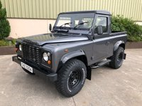 USED 2002 LAND ROVER DEFENDER 90 2.5 90 PICK-UP TD5 1d 120 BHP NO VAT, CORRIS GREY, GLOSS BLACK ROOF AND ARCHES