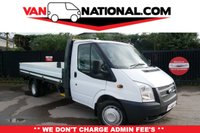 2013 FORD TRANSIT 2.2 350 100 RWD DROPSIDE EXTENDED FRAME TWIN WHEELER £13990.00