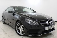 USED 2015 15 MERCEDES-BENZ E CLASS 2.1 E220 BLUETEC AMG LINE 2DR AUTOMATIC 174 BHP 1 Owner Full Service History  FULL SERVICE HISTORY + HEATED LEATHER SEATS + SAT NAVIGATION + REVERSE CAMERA + BLUETOOTH + CRUISE CONTROL + PARKING SENSOR + CLIMATE CONTROL + MULTI FUNCTION WHEEL + 18 INCH ALLOY WHEELS