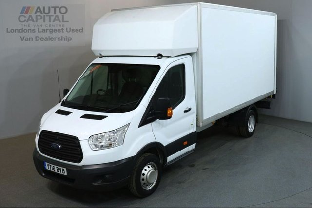 2016 16 FORD TRANSIT 2.2 350 124 BHP L4 EXTRA LWB TAIL LIFT FITTED LUTON VAN ONE OWNER REAR TAIL LIFT