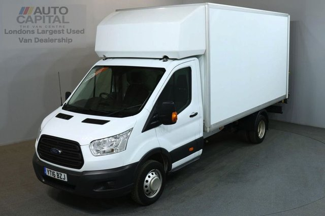 2016 16 FORD TRANSIT 2.2 350 124 BHP L4 EXTRA LWB TAIL LIFT FITTED LUTON VAN ONE OWNER FULL S/H SPARE KEY