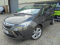 USED 2016 16 VAUXHALL ZAFIRA TOURER 1.6 SRI CDTI ECOFLEX S/S 5d 134 BHP Excellent Condition, One Owner, FSH, Low Rate Finance Available, No Deposit Necessary, Great Premium