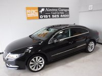 USED 2014 14 VOLKSWAGEN CC 2.0 GT TDI BLUEMOTION TECHNOLOGY DSG 4d AUTO 138 BHP Specification Includes; ONE OWNER FULL VOLKSWAGEN HISTORY, THIS CAR COMES IN GLEAMING METALLIC BLACK WITH FULL BLACK HEATED LEATHER TRIM, PRIVACY GLASS, PARKING SENSORS, NAVIGATION SYSTEM, DUAL CLIMATE CONTROL, FRONT FOG LIGHTS, ELEC  MIRRORS, ELEC WINDOWS ALL ROUND, BLUETOOTH, MULTI FUNCTION STEERING WHEEL, DRL LIGHTS, CRUISE CONTROL,  UPGRADED 18 INCH ALLOY WHEELS, 5 SEATS for more Information Please Call Now on 0151525 4400,  07967141248. Family Run Business Since 1990