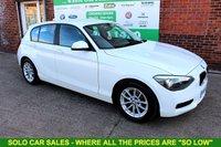 USED 2014 14 BMW 1 SERIES 1.6 116D EFFICIENTDYNAMICS 5d 114 BHP +FREE TAX +SERVICED +FULL MOT.