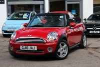 USED 2010 10 MINI CONVERTIBLE 1.6 COOPER 2d 122 BHP CONVERTIBLE 1 OWNER FROM NEW ** FULL MINI HISTORY ** XENONS ** BLUETOOTH ** CRUISE ** PARK AID **