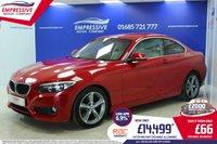 2014 BMW 2 SERIES 2.0 220D SE 2d 181 BHP £14499.00