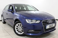 USED 2014 14 AUDI A3 1.6 TDI SE 5DR 109 BHP SERVICE HISTORY + BLUETOOTH + MULTI FUNCTION WHEEL + AIR CONDITIONING + 16 INCH ALLOY WHEELS