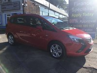 2015 VAUXHALL ZAFIRA TOURER 1.4 EXCLUSIV 5d 138 BHP, only 37000 miles, 1 Owner £8495.00