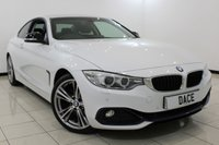 USED 2014 64 BMW 4 SERIES 2.0 420I SPORT 2DR 181 BHP Full Service History  FULL BMW SERVICE HISTORY + BMW WARRANTY 5 YEARS OR 50,000 + HEATED LEATHER SEATS + SAT NAVIGATION PROFESSIONAL + BLUETOOTH + PARKING SENSOR + CRUISE CONTROL + MULTI FUNCTION WHEEL + 18 INCH ALLOY WHEELS