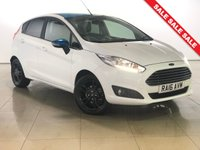 USED 2016 16 FORD FIESTA 1.2 ZETEC WHITE EDITION SPRING NAV 5d 81 BHP 1 Owner/Sat Nav/Bluetooth/AC