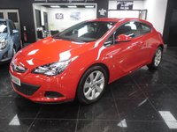 2014 VAUXHALL ASTRA 1.4 GTC SPORT S/S 3d 138 BHP £8699.00