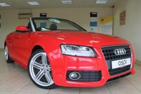 USED 2010 10 AUDI A5 2.0 TFSI S LINE 2d 208 BHP BLACK LEATHER, CLIMATE CONTROL, REAR PARKING SENSORS, LUMBAR SUPPORT, MULTI FUNCTION STEERING WHEEL, ALLOY WHEELS, BEAUTIFUL CONVERTIBLE