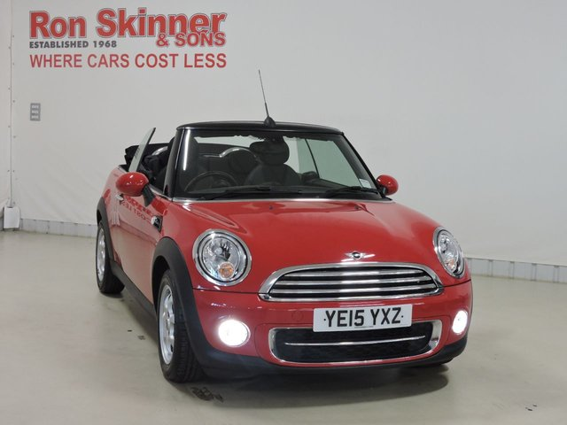 View our 2015 15 MINI CONVERTIBLE 1.6 COOPER D 2d 112 BHP with Auto AC + Fog Lights + Auto Wipers