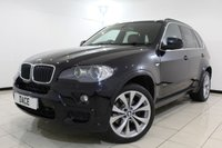 USED 2008 58 BMW X5 3.0 D M SPORT 5DR AUTOMATIC 232 BHP SERVICE HISTORY + HEATED LEATHER SEATS + SAT NAVIGATION PROFESSIONAL + BLUETOOTH + PARKING SENSOR + CRUISE CONTROL + MULTI FUNCTION WHEEL + 20 INCH ALLOY WHEELS