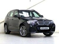 2016 BMW X3 3.0 XDRIVE30D M SPORT 5d AUTO 255 BHP £23798.00