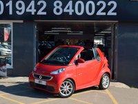 2014 SMART FORTWO CABRIO 1.0 PASSION MHD 2d AUTO 71 BHP £5895.00