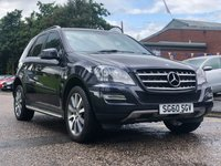 USED 2010 60 MERCEDES-BENZ M CLASS 3.0 ML350 CDI BLUEEFFICIENCY GRAND EDITION 5d AUTO 231 BHP NAVIGATION SYSTEM + FULL LEATHER TRIM + FULL YEAR MOT + SERVICE RECORD + FRONT AND REAR PARKING AID