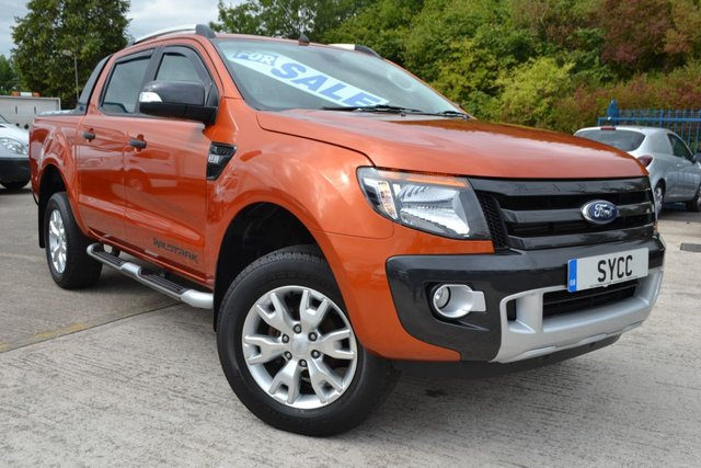 USED 2014 14 FORD RANGER 3.2 WILDTRAK 4X4 DCB TDCI 5d 197 BHP LOCK N ROLL SHUTTER BACK ~ HEATED WILDTRACK 1/2 LEATHER ~ 2 KEYS