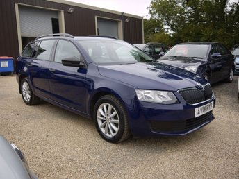2014 SKODA OCTAVIA 1.6 TDI CR S DSG 5 Door Estate In Blue With Alloys £6995.00