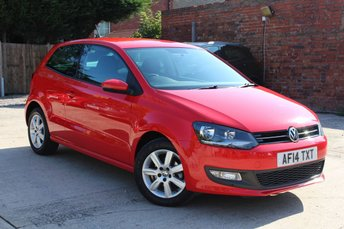 2014 VOLKSWAGEN POLO 1.2 MATCH EDITION 3d 69 BHP £7195.00