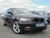 USED 2007 57 BMW 1 SERIES 2.0 118I SE 3d 141 BHP FULL SERVICE HISTORY 8 STAMPS, PARKING SENSORS, HALF LEATHER, CRUISE CONTROL
