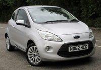 USED 2013 62 FORD KA 1.2 ZETEC 3d 69 BHP £30 Road Tax