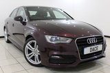 USED 2015 15 AUDI A3 2.0 TDI S LINE 4DR 148 BHP HEATED HALF LEATHER SEATS + BLUETOOTH + PARKING SENSOR + CRUISE CONTROL + MULTI FUNCTION WHEEL + CLIMATE CONTROL + RADIO/CD + 18 INCH ALLOY WHEELS