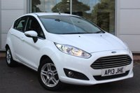 USED 2013 13 FORD FIESTA 1.2 ZETEC 5d 81 BHP LOW MILEAGE. LONG MOT. LOCALLY OWNED VEHICLE