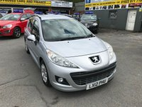 2012 PEUGEOT 207 1.4 SW ACTIVE 5 DOOR 95 BHP IN SILVER WITH ONLY 22000 MILES AND ONLY 2 OWNERS. £4399.00