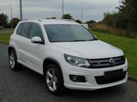USED 2013 13 VOLKSWAGEN TIGUAN 2.0 R LINE TDI 4MOTION 5d 168 BHP SAT NAV, LEATHER, DAB RADIO